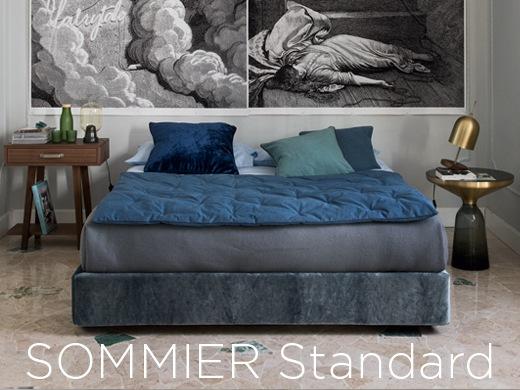 Sommier Standard - gepolstertes Bett ohne Kopfteil